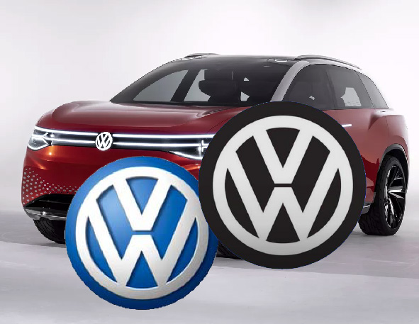 The Volkswagen's new logo