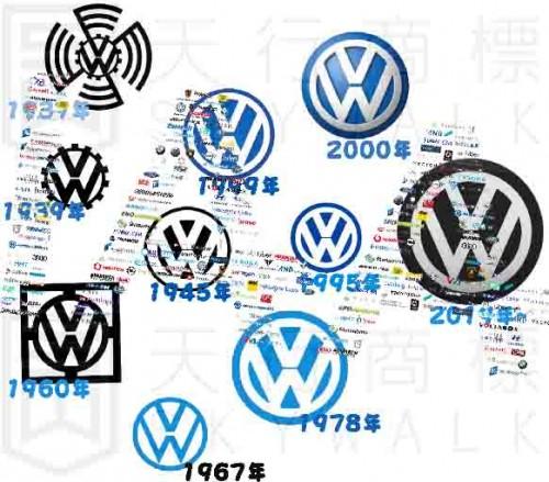 大众汽车发布新商标